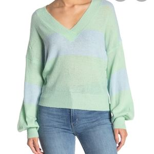 Mustard Seed Two-Tone Striped Dolman Sweater S